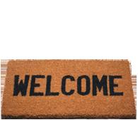 welcome mat.