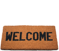 Imge of a welcome mat.